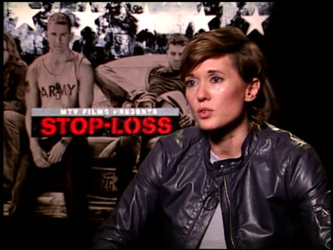 Kimberly Peirce on working with her cast at the 'StopLoss' Press Junket at NULL in Los Angeles California on March 17 2008