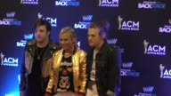 Kimberly Perry Reid Perry and Neil Perry of The Band Perry at the 51st Academy of Country Music Awards radio row at MGM Grand Las Vegas Hotel and...