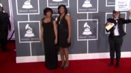 Kimberly Ruffin and Cheryl Ruffin at The 55th Annual GRAMMY Awards Arrivals in Los Angeles CA on 2/10/13