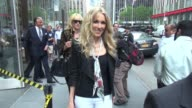 Kimberly Stewart Alana Stewart and George Hamilton leaving SiriusXM Satellite Radio in Celebrity Sightings in New York
