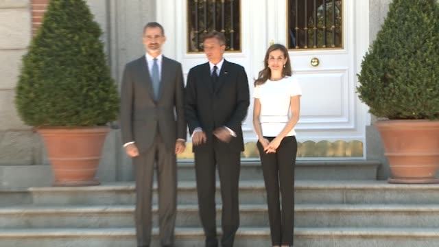 King Felipe of Spain and Queen Letizia of Spain host an official lunch for president of Slovenia Borut Pahor at Zarzuela Palace