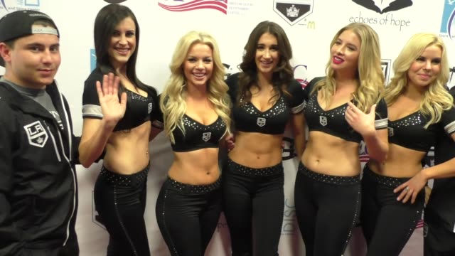 LA Kings Cheerleaders at the Luc Robitaille Celebrity Shootout at Toyota Sports Center in El Segundo in Celebrity Sightings in Los Angeles