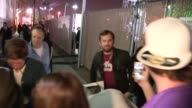 Kings of Leon Jared Followill and Caleb Followill and Matthew Followill greet fans at the Jimmy Kimmel Studio in Hollywood Celebrity Sightings in Los...