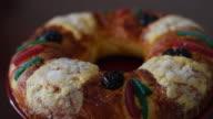 King's Ring or King's Cake (Spanish: Rosca de Reyes) turning is food display at bakery