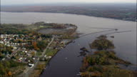 Kingston Waterfront - Aerial View - New York,  Ulster County,  United States