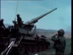 Kissinger flies to Israel for Golan Heights agreement bNAT CHRISTOPHER WAIN SYRIA Golan Heights LMS 175mm selfpropelled gun fires LR barrel lowers LV...
