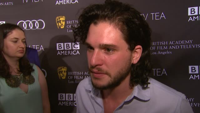 INTERVIEW Kit Harington on her dress being a part of the afternoon the last time she had high tea at BAFTA LA TV Tea 2013 Presented By BBC America...