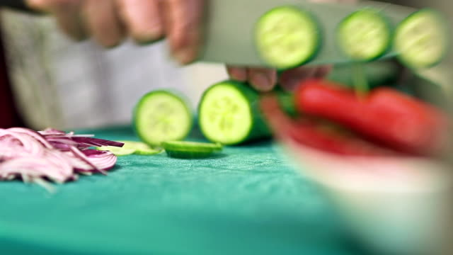 Kitchen activities - cutting vegetables