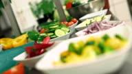 Kitchen activities - cutting vegetables