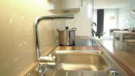 kitchen sink in modern flat