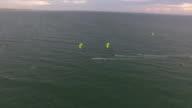 Kite race approaching a buoy