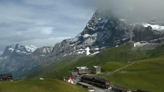 Kleine Scheidegg and Eiger, Bernese Alps, Switzerland, Europe