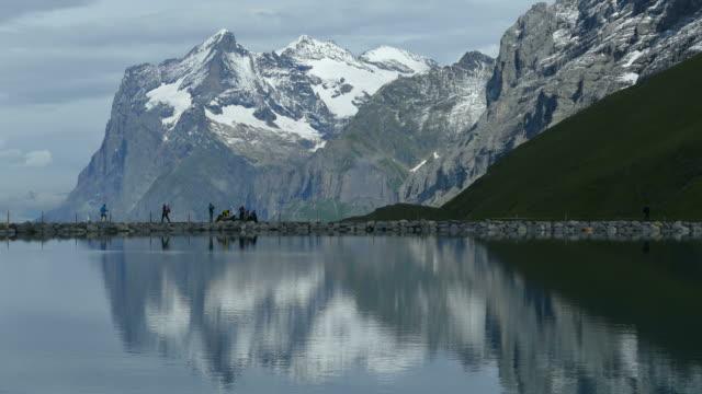 Kleine Scheidegg, Lake Fallboden and Wetterhorn, Bernese Alps, Switzerland, Europe