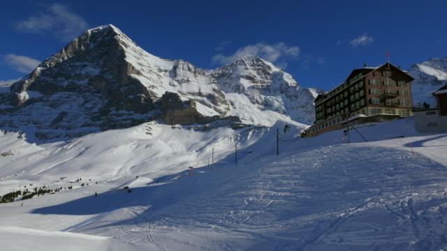 Kleine Scheidegg with Eiger and Monch, Bernese Alps, Switzerland, Europe