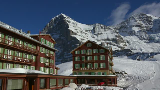 Kleine Scheidegg with Eiger and Monch, Grindelwald, Bernese Alps, Switzerland, Europe