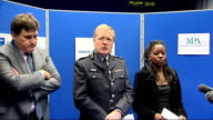 Metropolitan Police unveil weapons haul knives on display / press conference *** FLASH Kit Malthouse Sir Ian Blair and Cindy Butts Deputy chairperson...