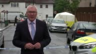 Two teenagers stabbed to death in London / Home Secretary backs stop and search Thornton Heath EXT Reporter to camera
