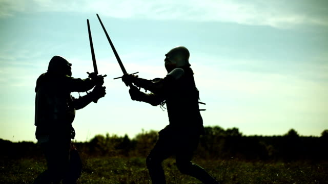 Knights fighting on the battlefield