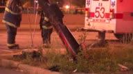 Knocked Over Street Light on October 14 2013 in Chicago Illinois