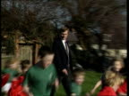 Somerset Taunton Edward Martin refereeing a match at his local school