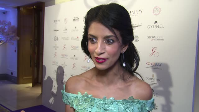 Konnie Huq on Children In Need dancing and motherhood at Corinthia Hotel London on November 19 2017 in London England