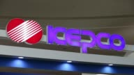 A Korea Electric Power Corp display area at the first International Electric Vehicle Expo in Seogwipo Jeju South Korea on Sunday March 16 Kepco...