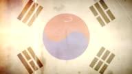 Bandiera della Corea-grunge vintage Vecchio Film anello con Audio