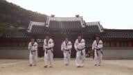 MS Korean Martial arts group performing taekwondo  / Kyungkido, Bucheon, South Korea