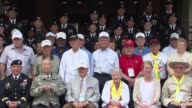 Korean War veterans from the US Canada and Colombia return to South Korea for the first time for the 62nd anniversary of the Korean armistice...
