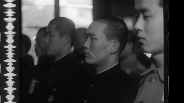 Koreans undergo physical exams to qualify for the special volunteer system during the Japanese annexation of the Korean Peninsula
