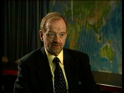NATO Foreign Ministers Meeting ITN BELGIUM Brussels Robin Cook MP interview SOT We are demanding total acceptance of our objectives/ refugees must be...