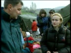 Refugees / Aid Kosovo Refugees / Aid jEN TIM EWART Refugees amongst makeshift shelters and rubbish scattered around refugee camp PULL Macedonian...