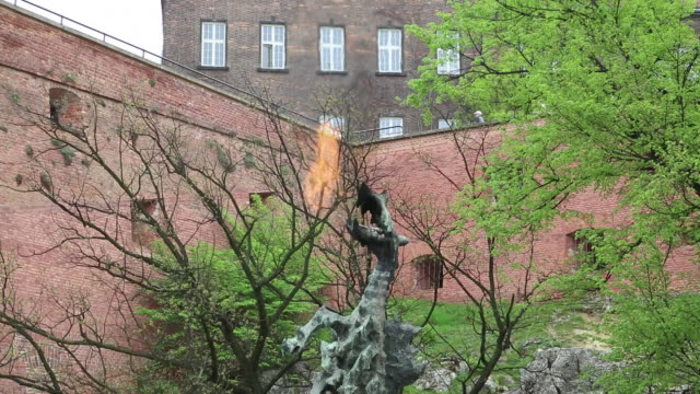 Krakow, View of the Wawel Dragon's Cave, a famous Dragon in Polish folklore