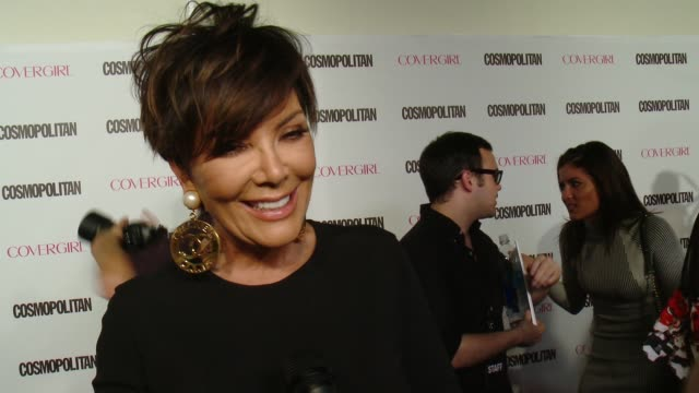 INTERVIEW Kris Jenner on the event and magazine at Cosmopolitan Magazine's 50th Birthday Celebration in Los Angeles CA