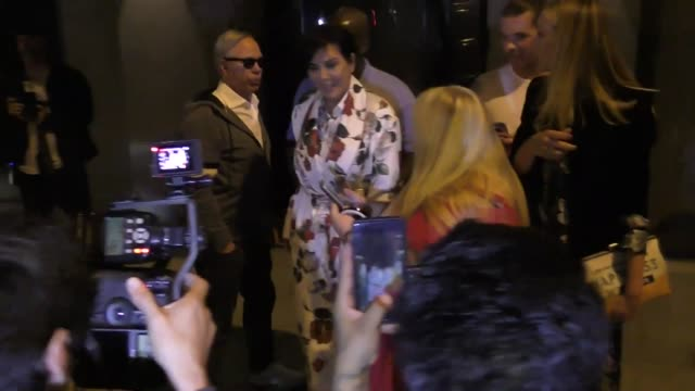 Kris Jenner Tommy Hilfiger outside Craig's Restaurant in West Hollywood in Celebrity Sightings in Los Angeles