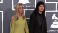 Krista Belladonna and Joey Belladonna at The 55th Annual GRAMMY Awards Arrivals in Los Angeles CA on 2/10/13
