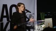 SPEECH Kristen Stewart presents to Jillian Dempsey at Marie Claire Hosts Inaugural Image Maker Awards at Chateau Marmont on January 12 2016 in Los...