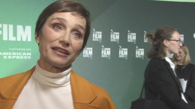 INTERVIEW Kristin Scott Thomas on first reading the script the humanity of the film Brexit at 'The Party' UK Premiere 61st BFI London Film Festival...