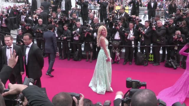 Kristina Bazan Aishwarya Rai Victoria Silvstedt Caroline Receveur and more on the red carpet for the Premiere of Ma Loute at the Cannes Film Festival...