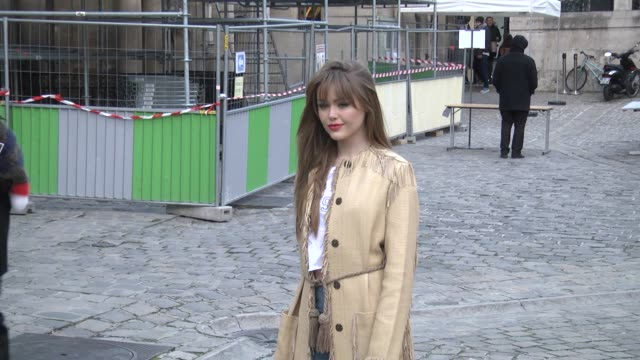 Kristina Bazan attends the Sonia Rykiel show as part of the Paris Fashion Week Womenswear Fall/Winter 2016/2017 on March 7 2016 in Paris France