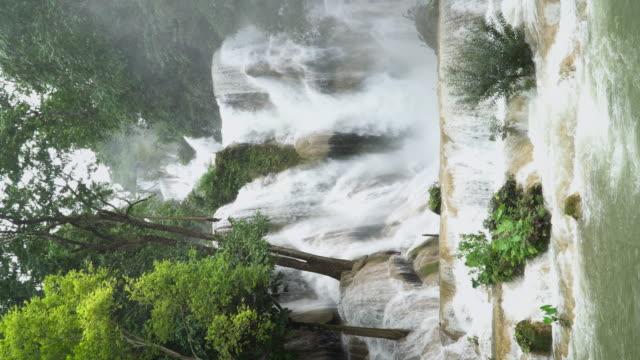 4K (Vertical), Kuang Si waterfall in Luang Prabang, Laos.