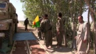 PKK Kurdish forces prepare to launch military attack into ISIS position near the village of Uzeira near the city of Kirkuk in northern Iraq