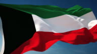 4K Kuwait Flag - Loopable