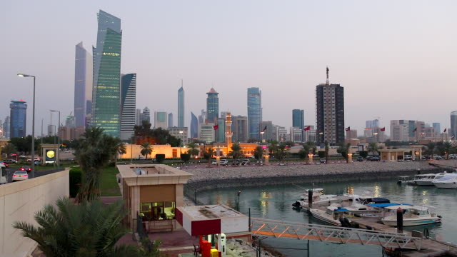 Kuwait, Kuwait City, Dar Al-Awadi Building and Minaret by Sharq Souk