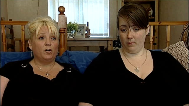 Mother interview ENGLAND Teeside Hartlepool INT Linda Tumilty and Clare Fisher interview SOT