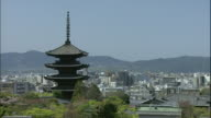 Kyoto's To-ji temple towers over the city.