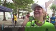 La brasilena Ivonette Balthazar se sentia algo nerviosa antes de la carrera del domingo en Rio de Janeiro pero su corazon trasplantado de un...