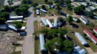 La Grange, Texas zone van de kleine stad Gulf Coast schade van Orkaan Harvey pad van vernietiging in de gehele Gemeenschap vernietigd en volledig weggevaagd