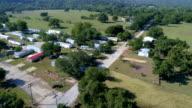 La Grange, Texas zone van de kleine stad Gulf Coast schade van Orkaan Harvey Path of Destruction nadat de Colorado rivier overstroomd deze stad
