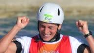 La palista espanola Maialen Chourraut se colgo el jueves la medalla de oro en Rio de Janeiro cuatro anos despues de haber sido bronce en Londres 2012
